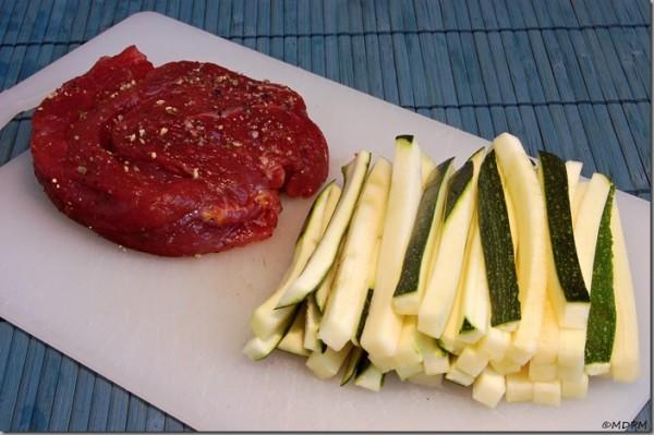 Hovězí steak s pečeným morkem a celerovým pyré 1